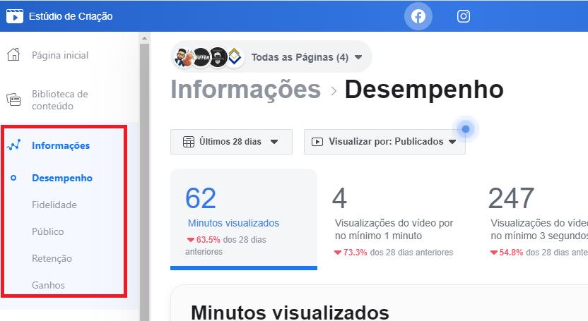 Estúdio de Criacão no Facebook